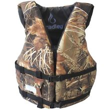 Bradley Adult Basic Fishing Life Vest - US Coast Guard Approved (Camo)