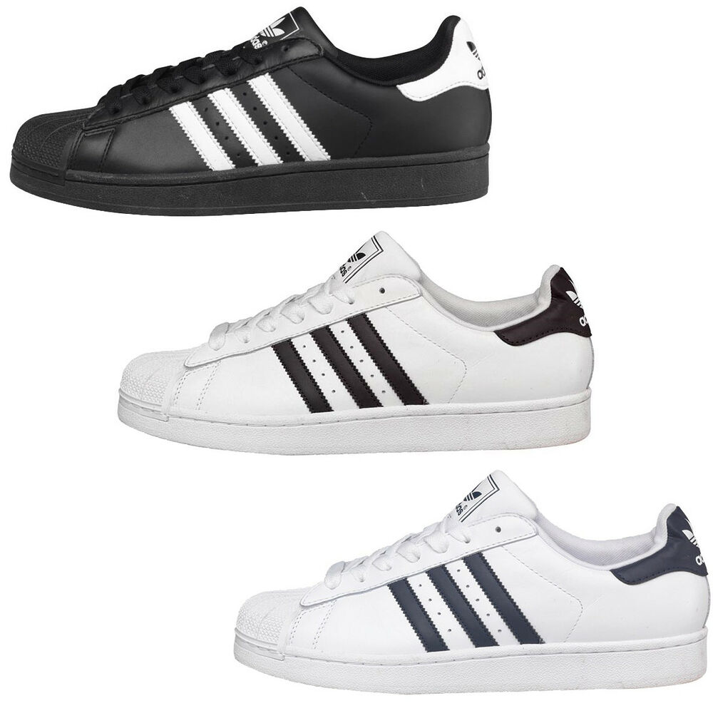 quality design b6c03 f8cb3 Details about Adidas Mens Superstar 2 Trainers Originals Sneakers Shoes UK Size  7 8 9 10 11