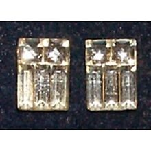 VINTAGE RARE ART DECO BEVELED CRYSTAL STONES WOW!* 8 *FOIL BACKED GLASS STONES