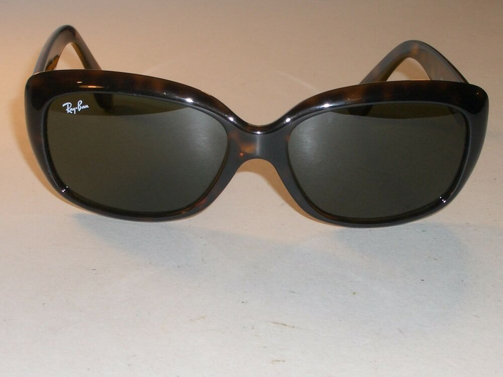 ab5d27a43a Details about RAY BAN RB4101 JACKIE OHH SHINY TORTOISE G15 UV POLYCARBONATE  LENS SUNGLASSES