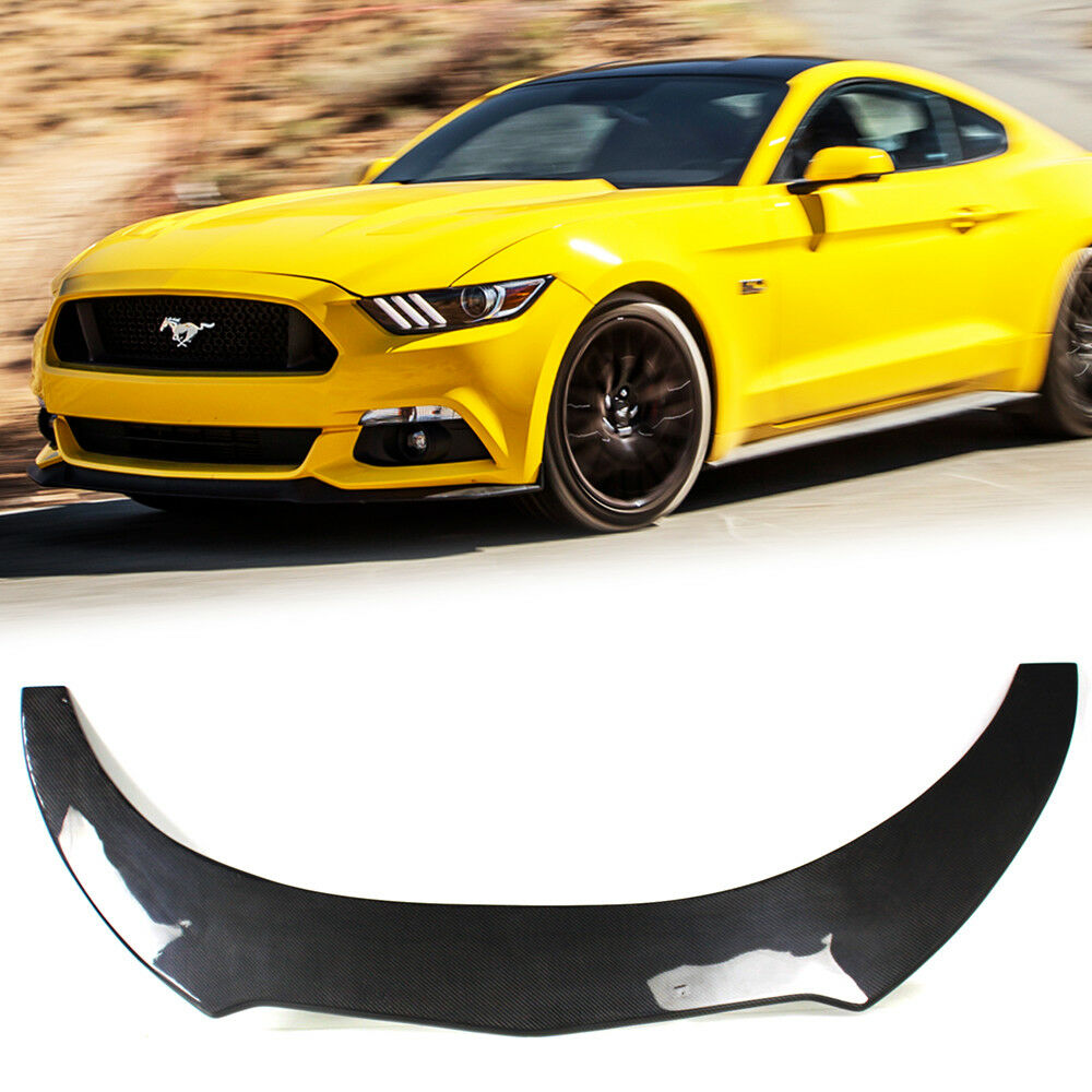 Details about carbon ford mustang v6 6th coupe gt k style front bumper lip spoiler 2018