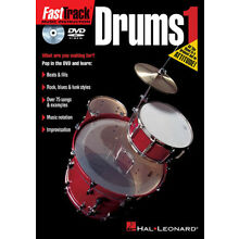 FastTrack Drums Method 1 Beginner Lessons Learn How to Play Hal Leonard DVD NEW