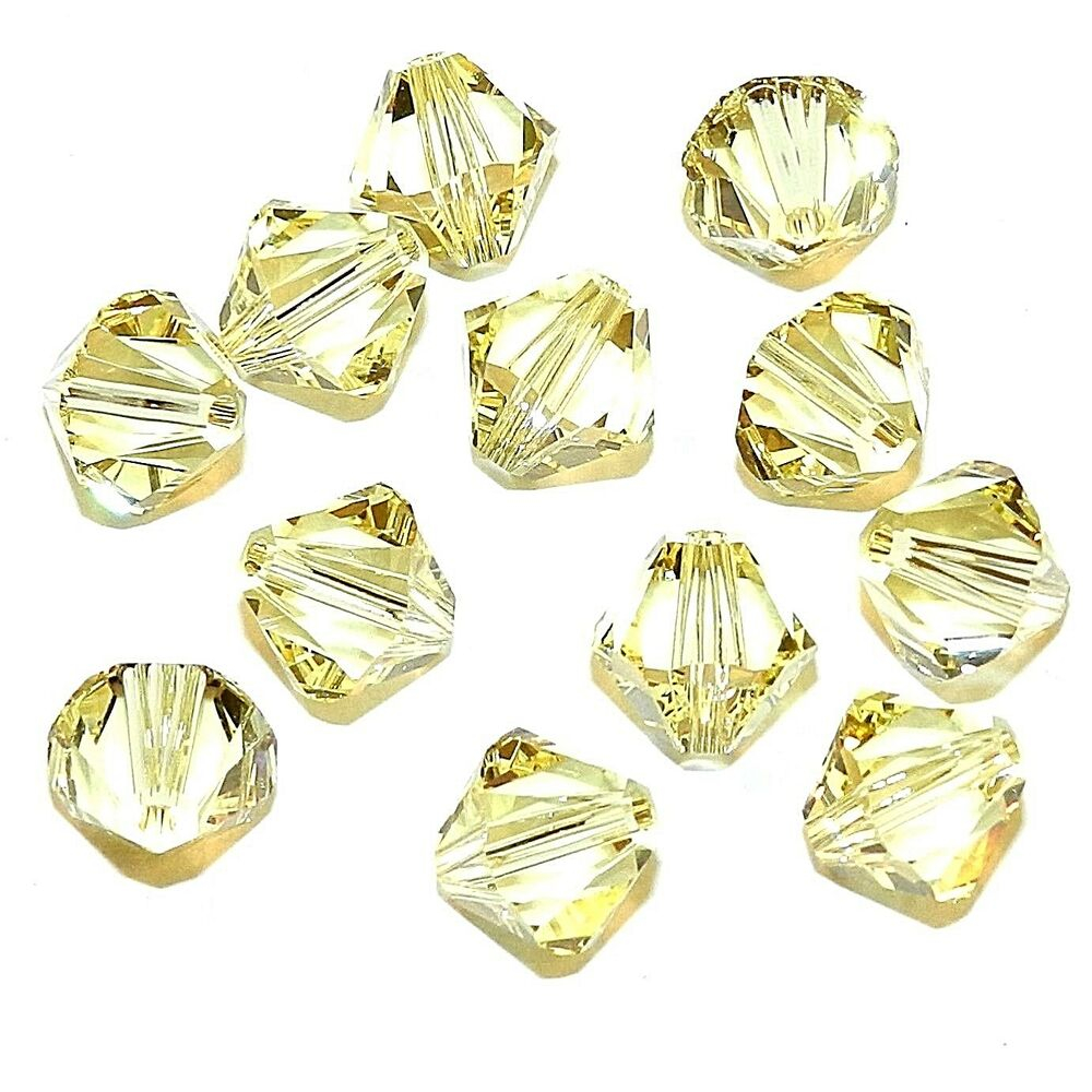 b68288b390d86 SCB639 Jonquil Yellow 8mm Xilion Faceted Bicone Swarovski Crystal Beads  12pc | eBay