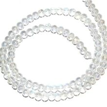 G2823 Crystal Clear Transparent AB 4mm Round Glass Beads 16