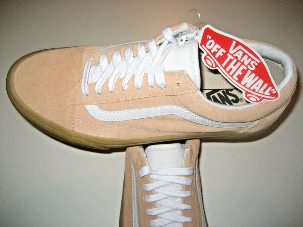 Details about Vans Mens Old Skool Double Light Gum Apricot White Suede  Skate shoes Size 8 NWT f7f91a259