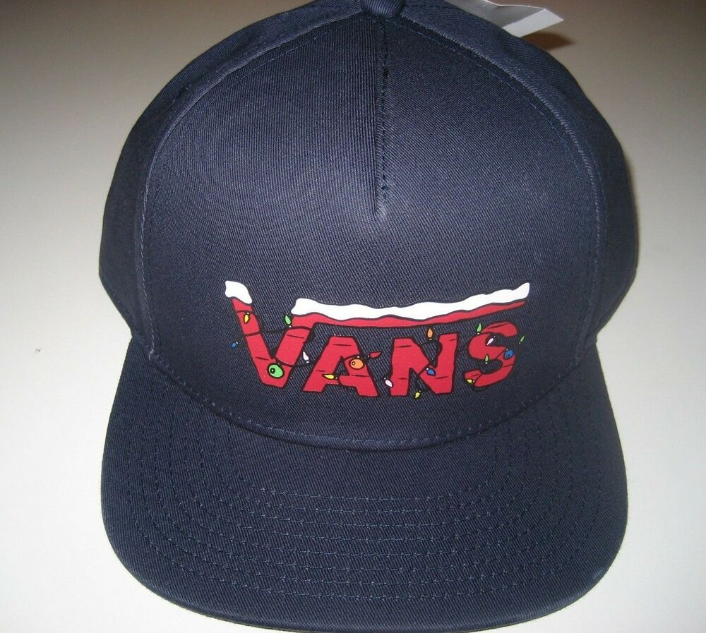 3af73442937 Details about Vans Shoes x Peanuts Holiday Snoopy Charlie Brown Navy Blue  Baseball Cap NWT
