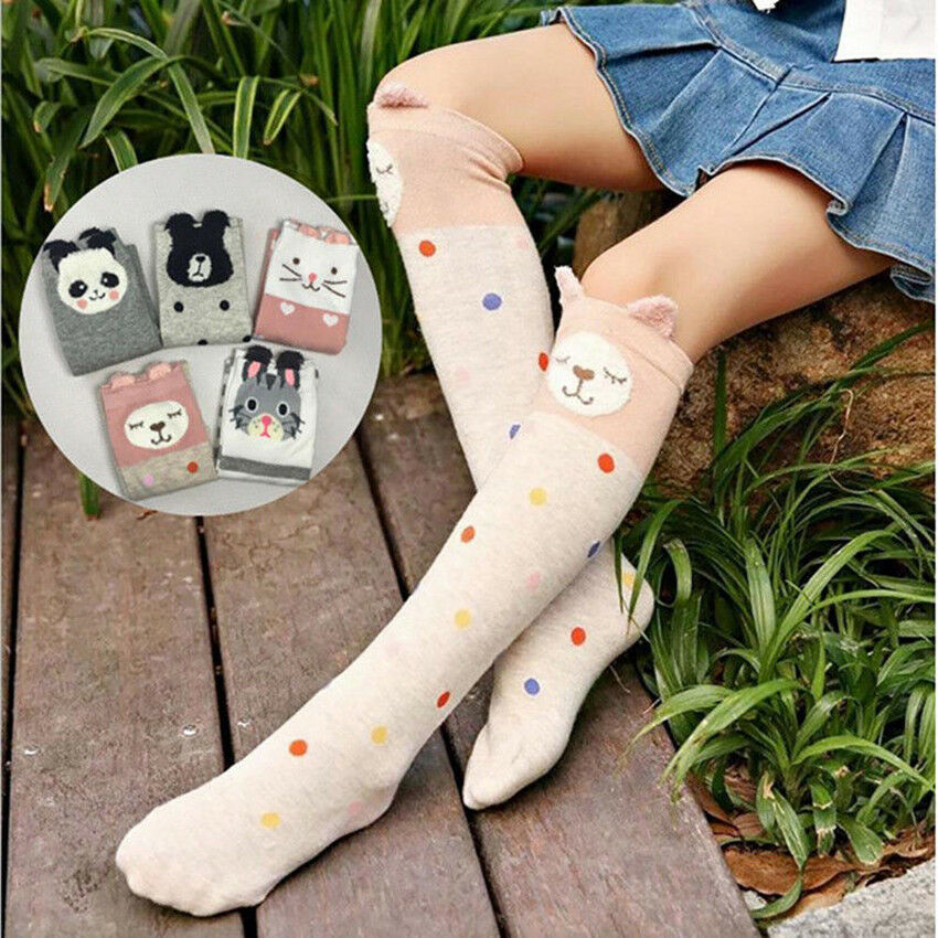 e673176b7 Details about Baby Kids Toddlers Girls Knee High Socks Tights Leg Warmer  Stockings For Age3-12