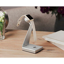 Solid Base Aluminum Desk Stand Dock Station Charger for Apple Watch 2/3/4 Silver