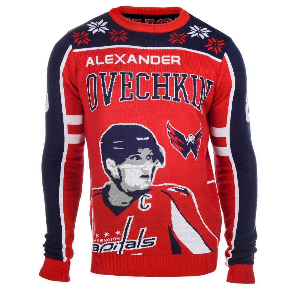 43c62be2c Details about Alexander Ovechkin  8 (Washington Capitals) NHL Player Ugly  Sweater
