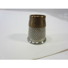 Vintage Made in England Brass Top Thimble- size 15