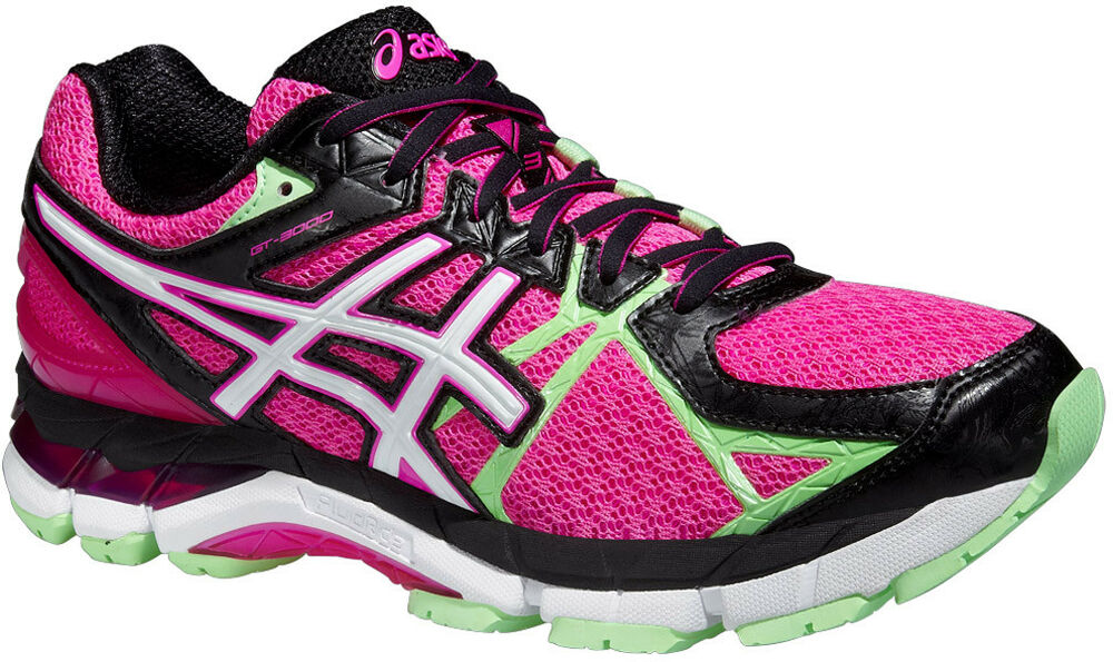 bc3483c559f Asics GT 3000 3 Womens Running Shoes Ladies Support Sports Trainers Pink
