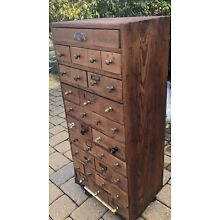 "Vintage Apothecary Cabinet 35 Drawers 38"" Tall"