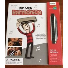 NEW - UNUSED  Fun With Harmonica Kit w/ CD Instruction Guide Case & Cloth