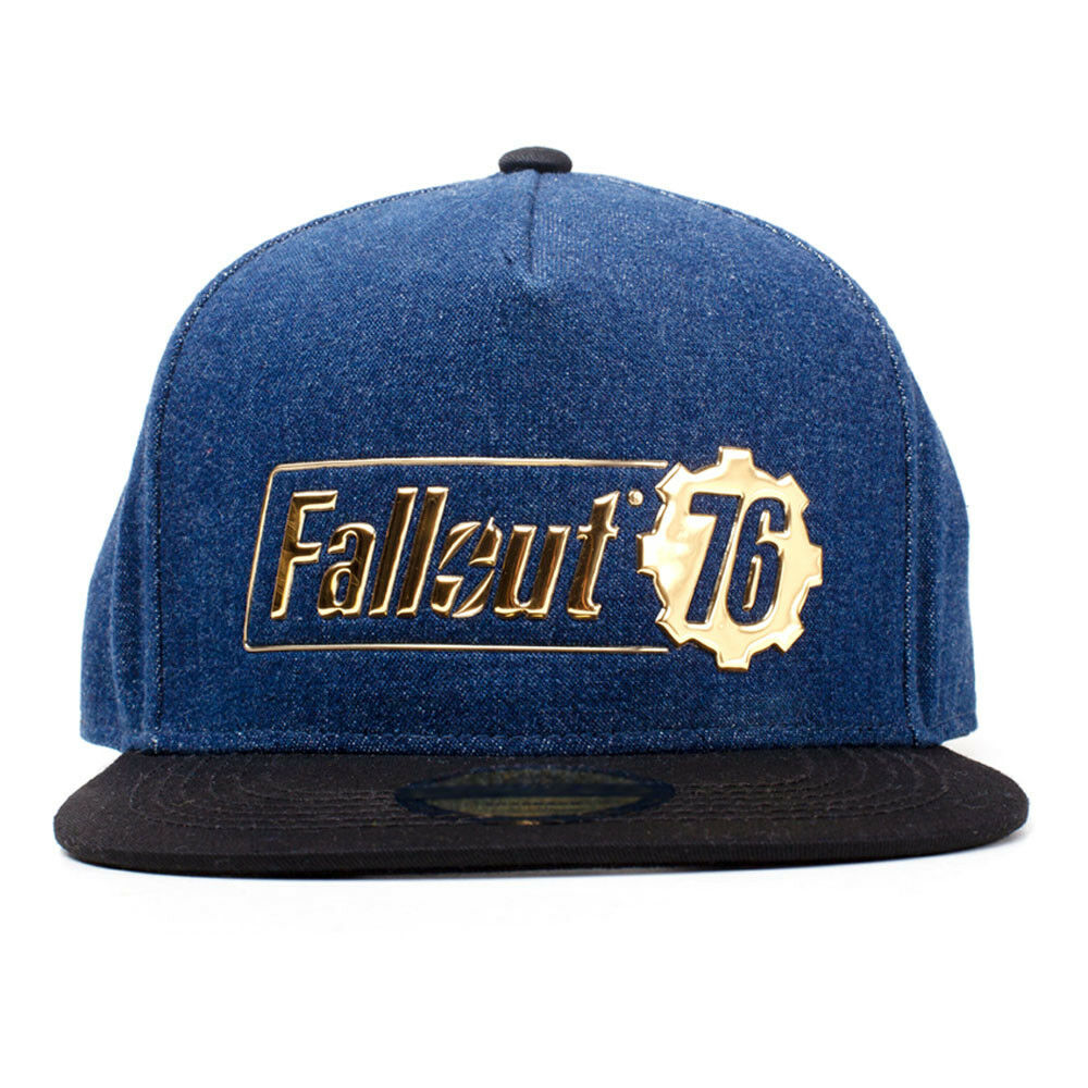 new style 686aa 99e23 Details about FALLOUT 76 Logo Badge Snapback Baseball Cap 53 to 60cm Blue  Black SB320037FAL