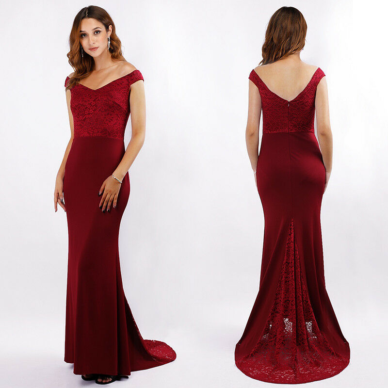 e49d424527a24 Details about UK Ever-Pretty Long Cap-sleeve V-neck Evening Ball Gown  Cocktail Prom Dress 7585