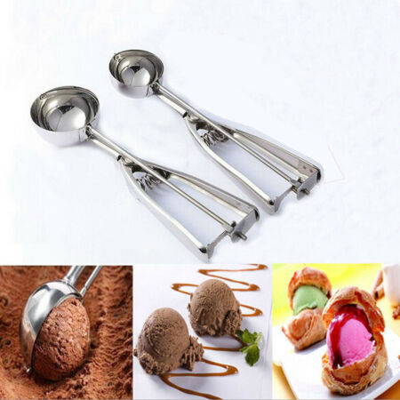 img-S/M/L Stainless Steel Scoop Ice Ccream Mash Potato Meat Food Ball Spoon Kitchen