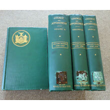 MILITARY MINUTES COUNCIL FOR APPOINTMENT NEW YORK STATE 3 VOL & INDEX 1783-1824