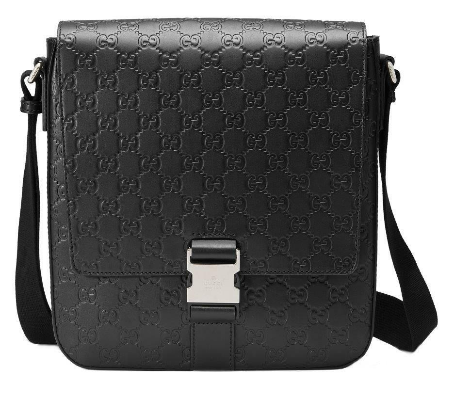 a010c9df7aa54c Details about NEW GUCCI GUCCISSIMA GG LEATHER LOGO MESSENGER CROSS BODY BAG