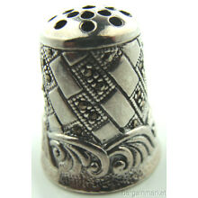 Rare Collectors Sterling Silver Marcasite Thimble #P148