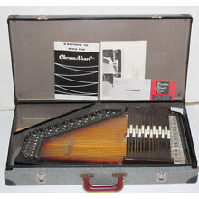 WOW! Vintage RBI Chromaharp Chord Autoharp by Rhythm Band Inc Instrument w/ Case