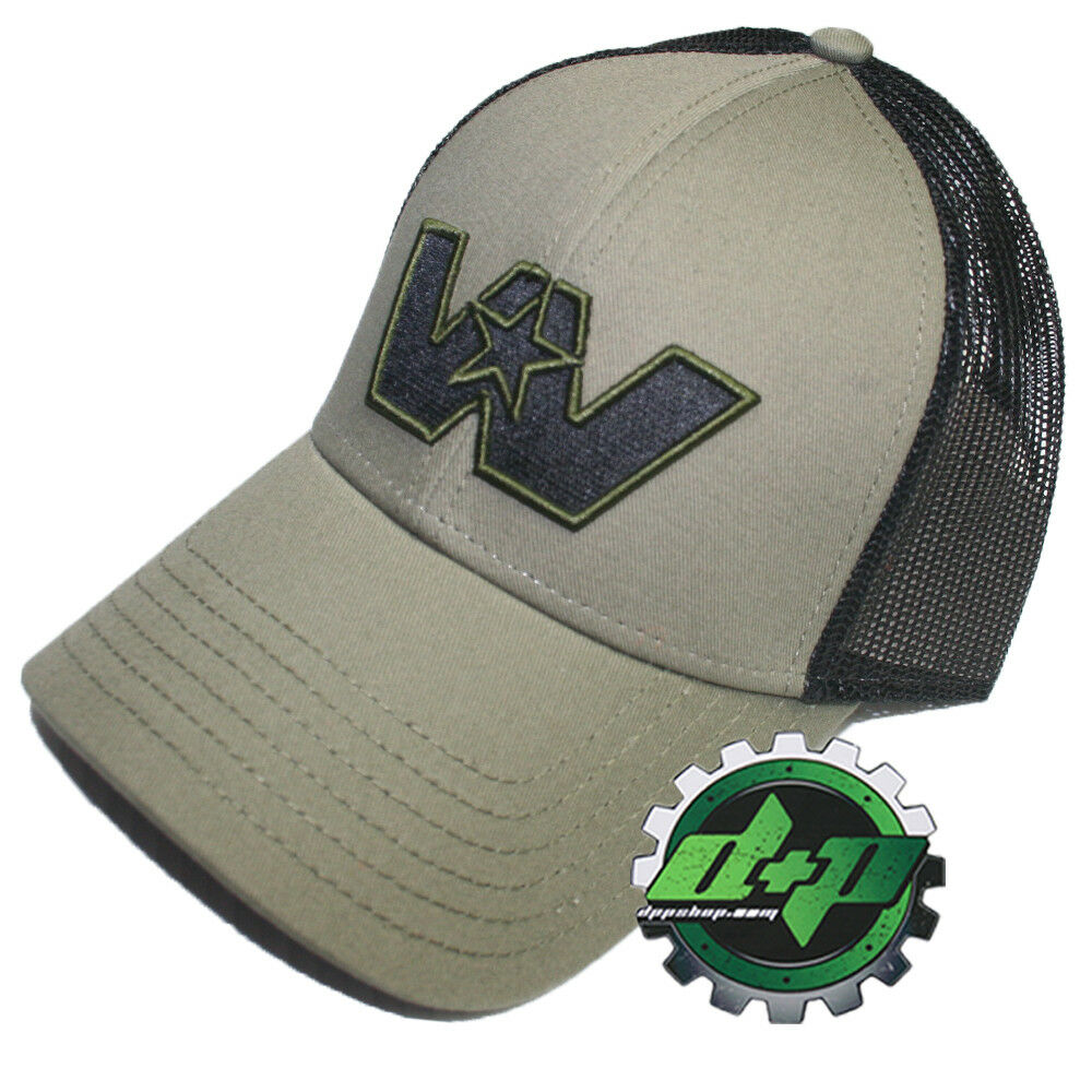 cabcf0c38584c Details about Western Star Loden green truck hat cap embroidered W Logo mesh  back trucker gear
