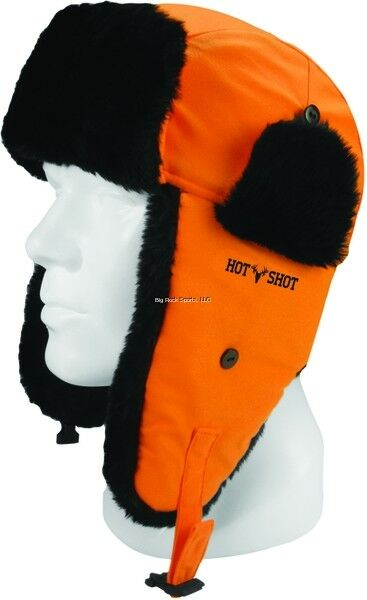 Details about NEW Hot Shot Brushed Tricot Trapper Hat G80 Thinsulate Blaze  Orange 16-324C-LX 7143697b873