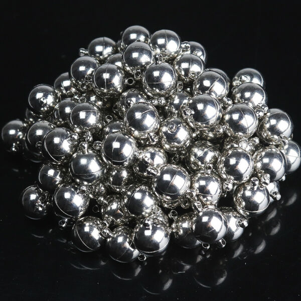 Glossy Round Ball Strong Magnetic Connector Clasps for Bracelet Necklace Making