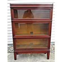 Anitque 3 Section Globe-Wernicke Barrister Bookcase - Original Labels