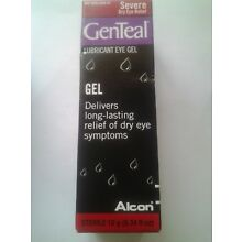 Genteal severe lubricant eye gel .34 oz NEW EXP. mid 2018 selling as collectable
