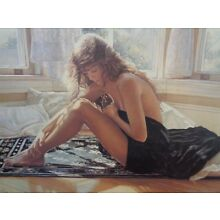 Steve Hanks Comforting the Heart Print Signed Certificate 15 1/2 x 23 image