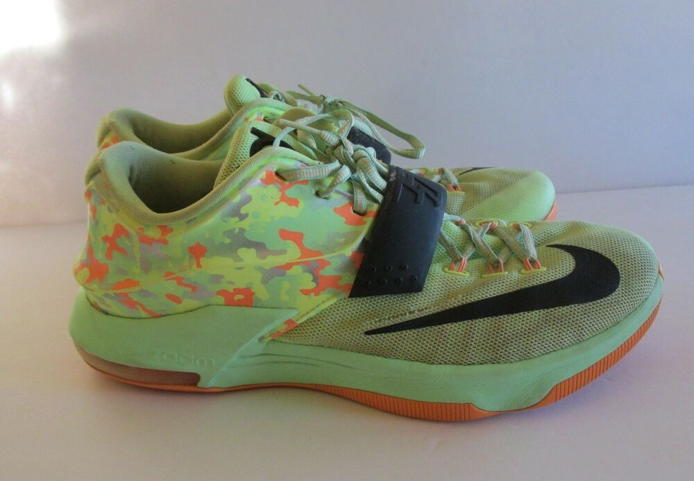 the latest 8a98f aedaf Details about KD Nike Zoom Easter 7 VII Mens Size 11 US Lime Green BLK  Vapor Camo 653996 304 K