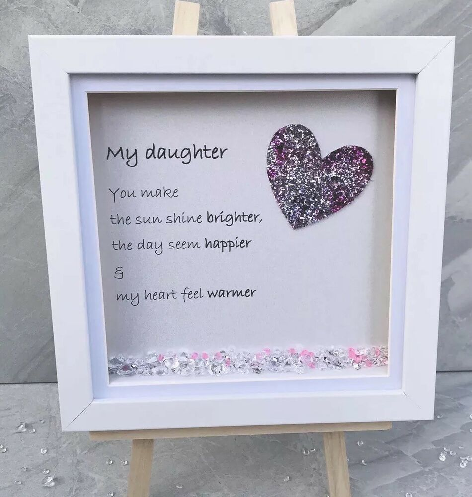 Details About BESPOKE Personalised Daughter Frames Sparkle Crystals Birthday Gift