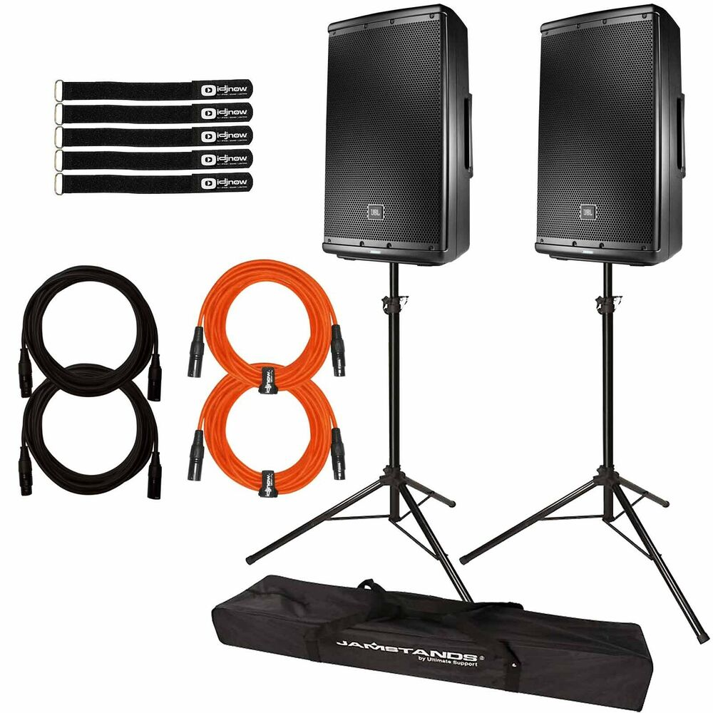 Jbl Eon612 12 2 Way Multipurpose Dj Pa Powered Speakers Pair W Speaker Besides Srx Subwoofer On Wiring With Stands Cables 707943549541 Ebay