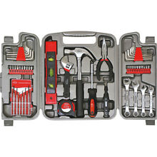 Apollo Tools 53 Piece Household Tool Kit - Grey Sports Accessorie NEW