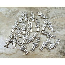 Set of 20 Pewter Toy Soldier Charms - 5308