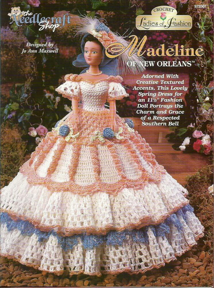 Madeline Of New Orleans Ladies Of Fashion Crochet Pattern For Barbie