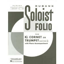 Soloist Folio Bb Cornet or Trumpet Solo Piano Classical Sheet Music Rubank Book
