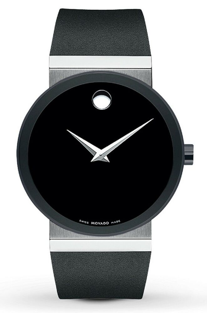 e432633bf50 Movado Sapphire Synergy Swiss Black Dial Black Rubber Men s Watch 0606268  SD9 775924763552