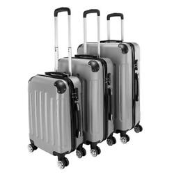 Kyпить New 3 Pieces Travel Spinner Luggage Set Bag ABS Trolley Carry On Suitcase w/TSA на еВаy.соm