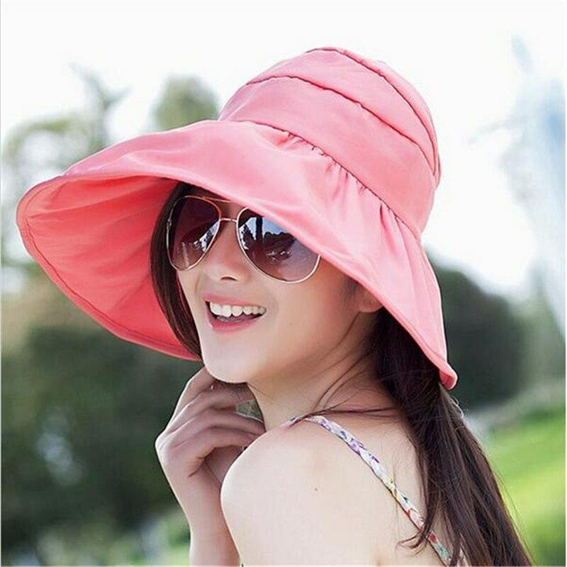 75f414602d672 Details about Sun Visor Hat Breathable Waterproof UV Protection For Women  Foldable Beach
