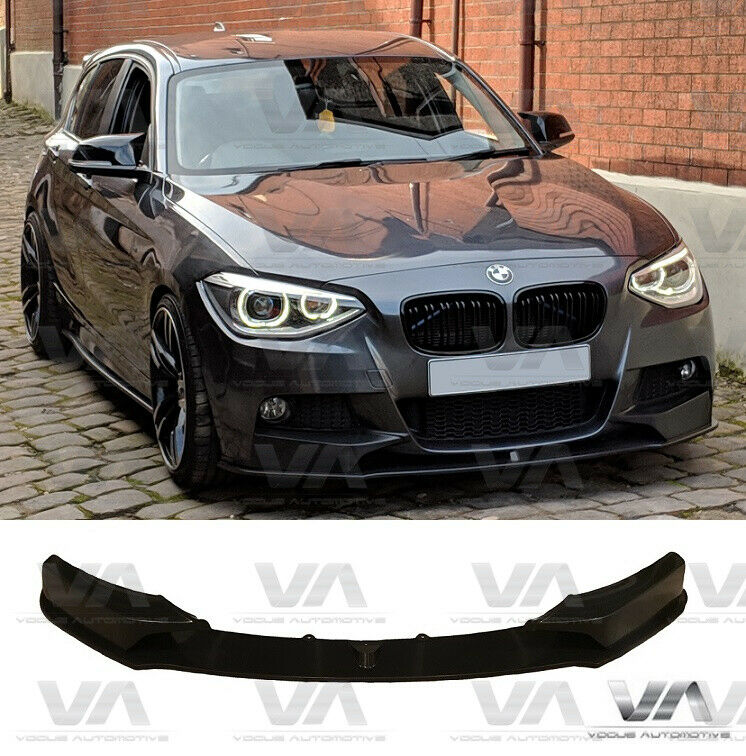 bmw 1 series f20 f21 m sport performance front lip spoiler. Black Bedroom Furniture Sets. Home Design Ideas