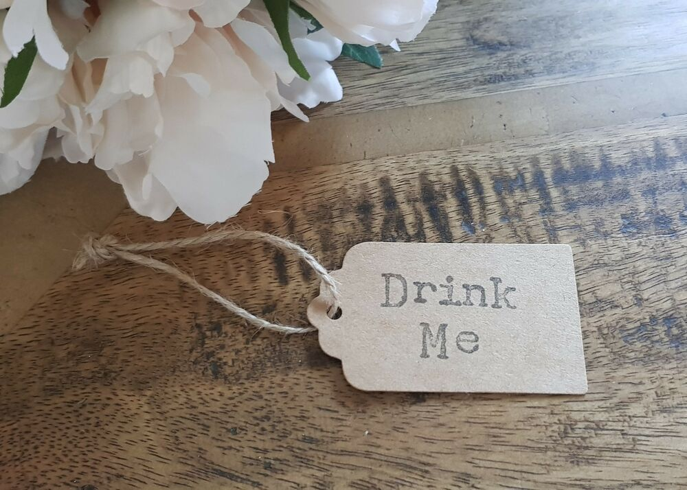 Drink Me Wedding Party Favour Tagsall Luggage Labels Kraft