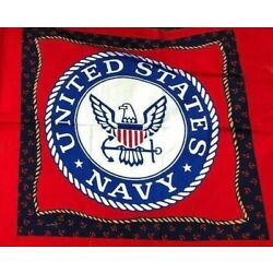 Navy Pillow Fabric By the PP Panel 17x17 US Military USA Strong Cotton