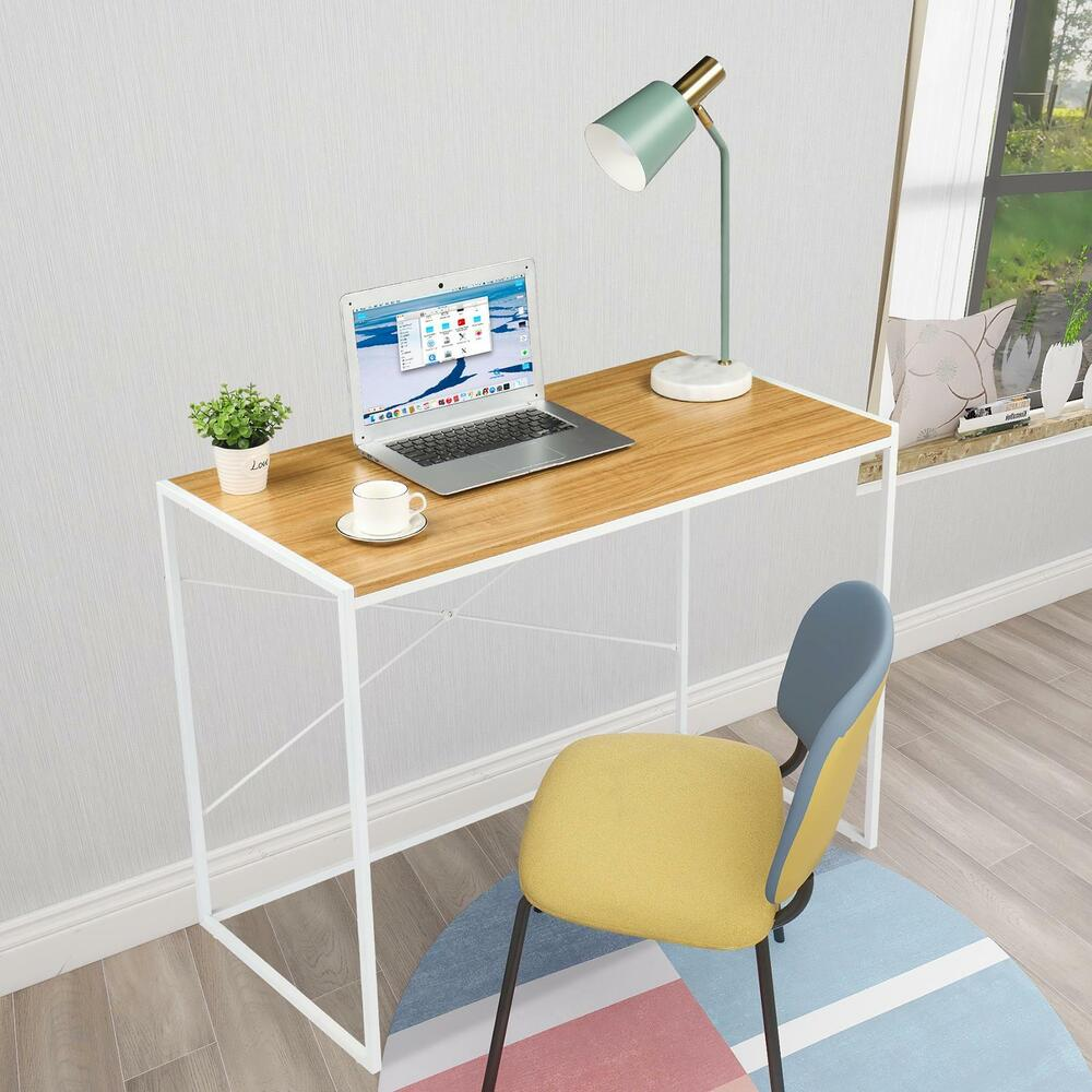 Details about 43 modern computer desk laptop desktop study writing dining table home office
