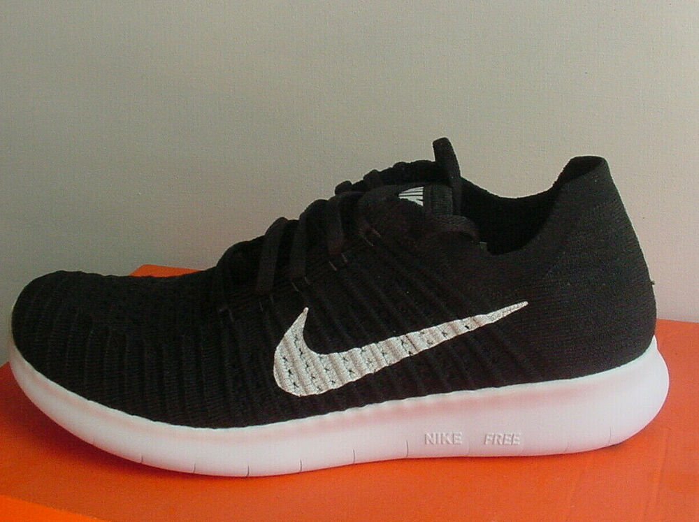 reputable site b92e8 8d8cb Details about MEN'S Nike Free Run RN Flyknit Shoe Sneakers Black/White  831069-001 Sz 7-14 NIB