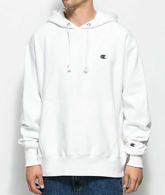 40643f5c3f0 Details about NEW CHAMPION REVERSE WEAVE WHITE LOGO PULLOVER HOODIE  SWEATSHIRT 2-XLARGE 2XL