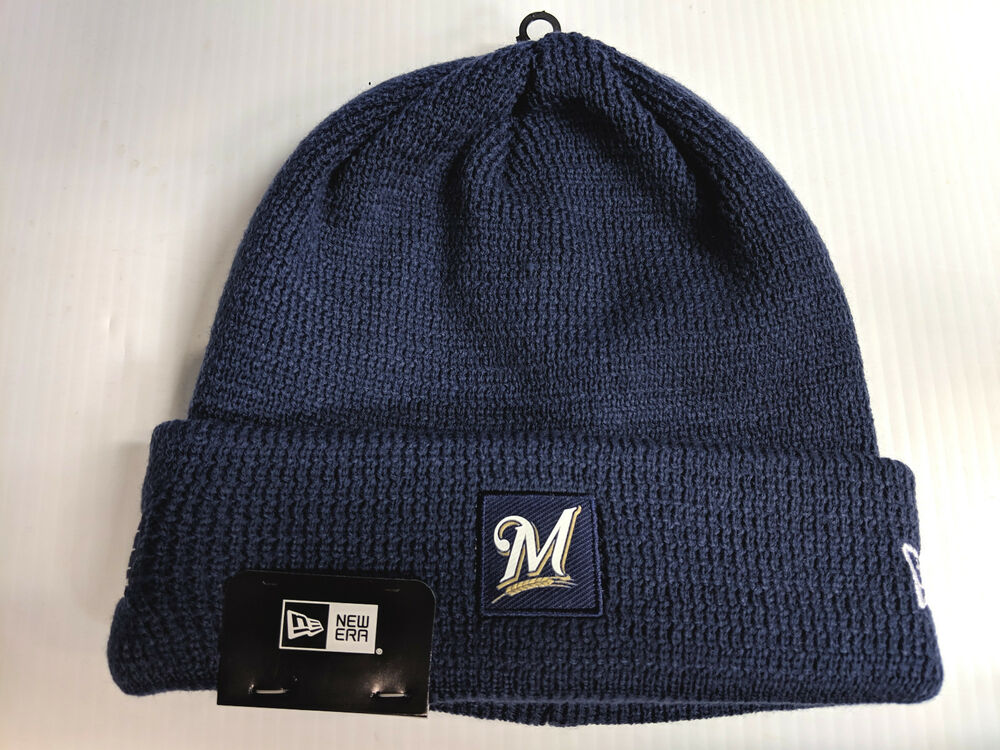 promo code 400fe 8f73e Details about Milwaukee Brewers New Era Knit Hat 19 Sport Clubhouse Beanie  Stocking Cap