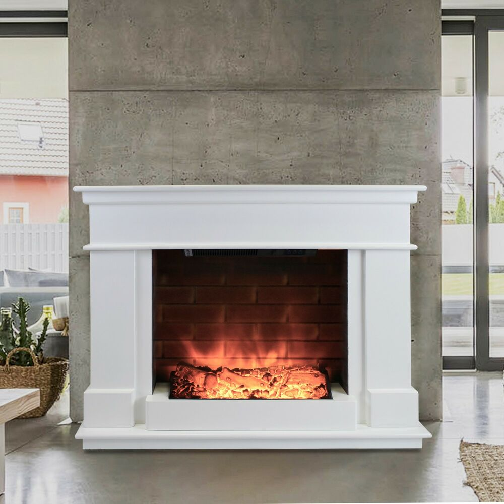 Free Standing Electric Fire Wall Mounted Modern Surround Fireplace