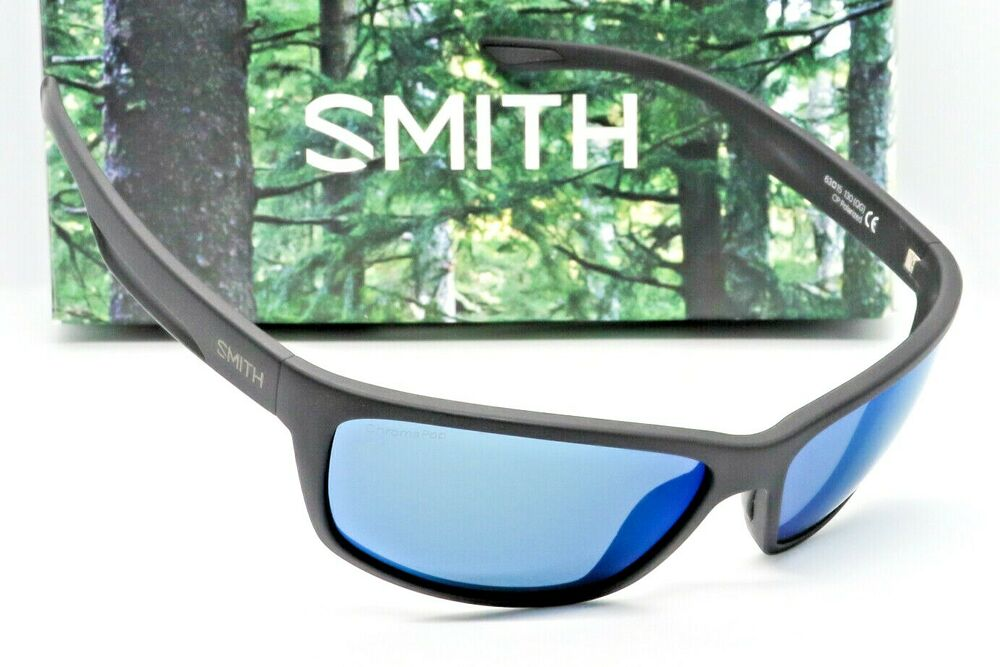 35a4fb7994d Details about NEW SMITH REDMOND SUNGLASSES Black frame   Blue Mirror  Chromapop Polarized lens