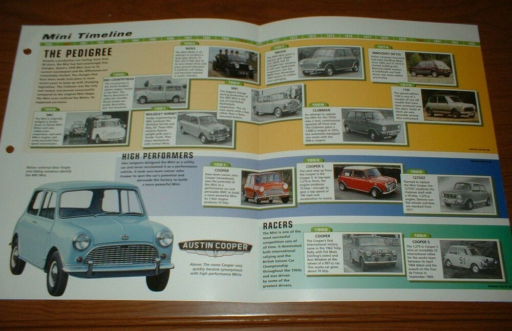 1959 99 History Of The Mini Brochure Austin Cooper Rover Bmc Mk1